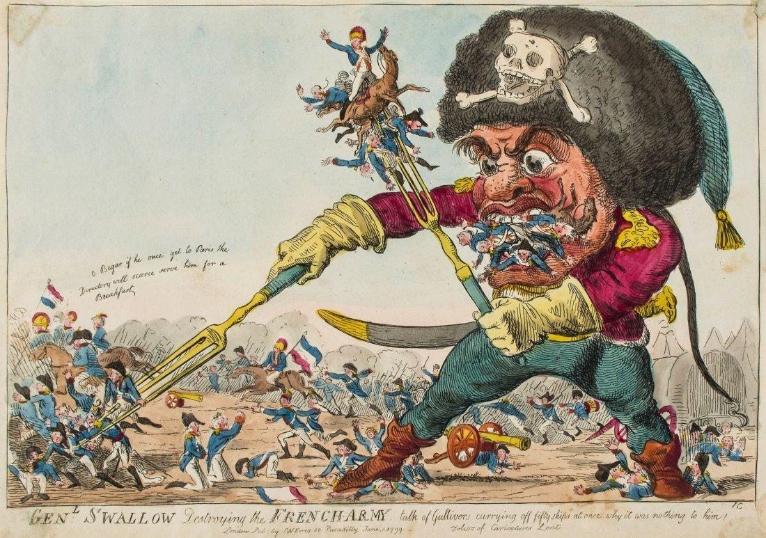 Cruikshank (Isaac) - Gen.l Swallow Destroying the