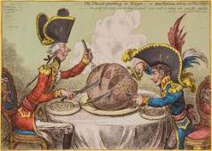 Gillray (James) - The Plumb-pudding in danger, _ or _
