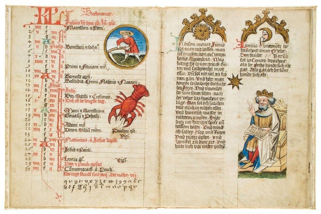 The Mckell Medical Almanack, - in German, illuminated