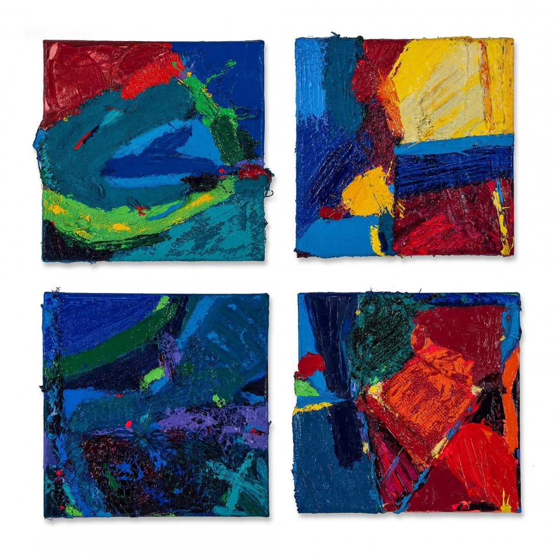 Anthony Frost (b.1951) - Orange goes Pop, Blue Blue,