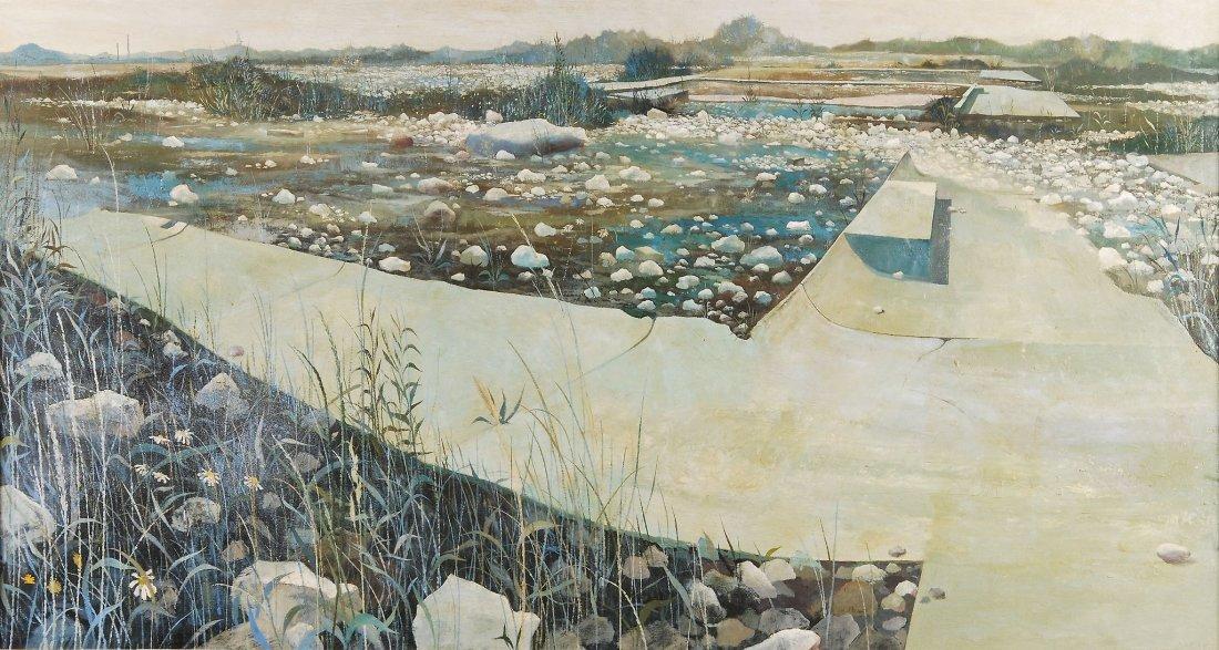 Anthony R. Cooke (b.1933) - Beach Green