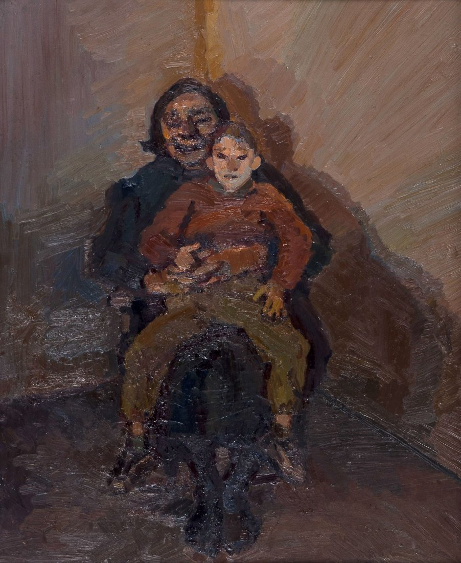 Celia Paul (b. 1959) - My Mother and Frank, 1990