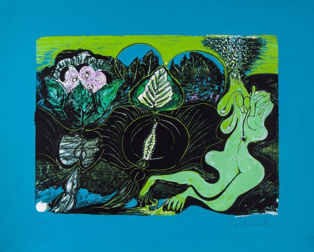 Ceri Richards (1903-1971) - Jardin Sous la Pluie