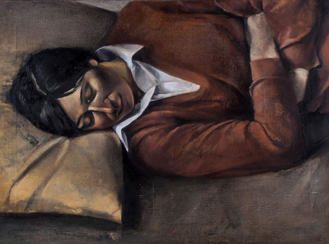 Christopher Couch (b. 1946) - Untitled (Sleeping Girl),