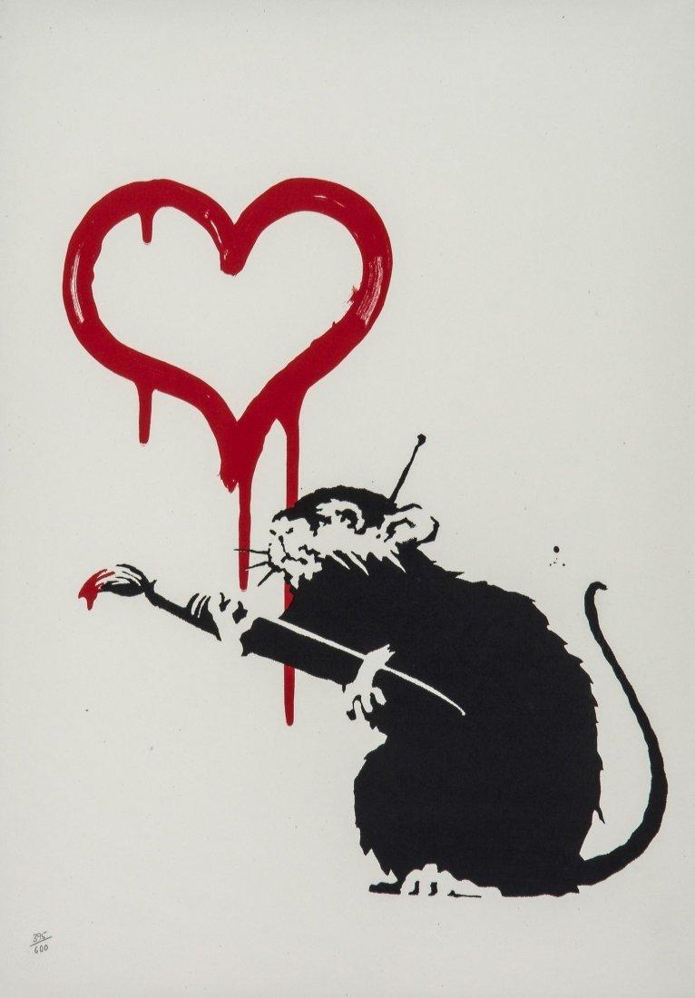 Banksy (b.1974) - Love Rat