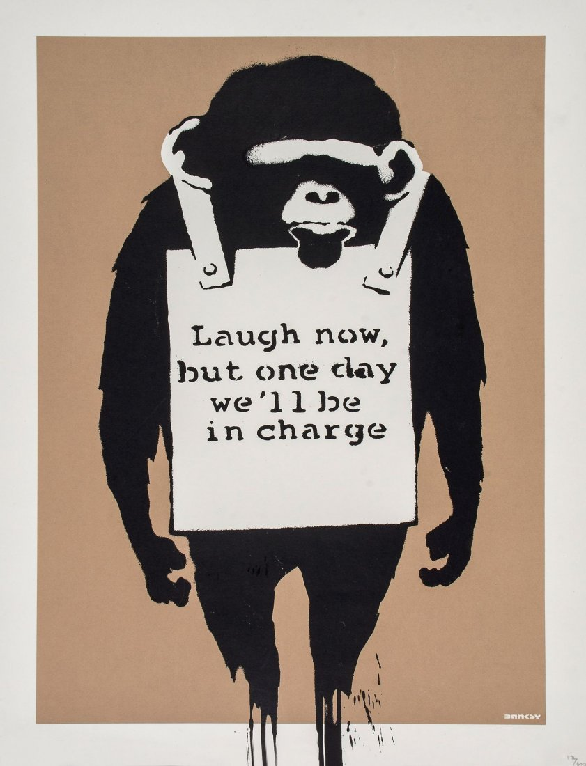 Banksy (b.1974) - Laugh Now