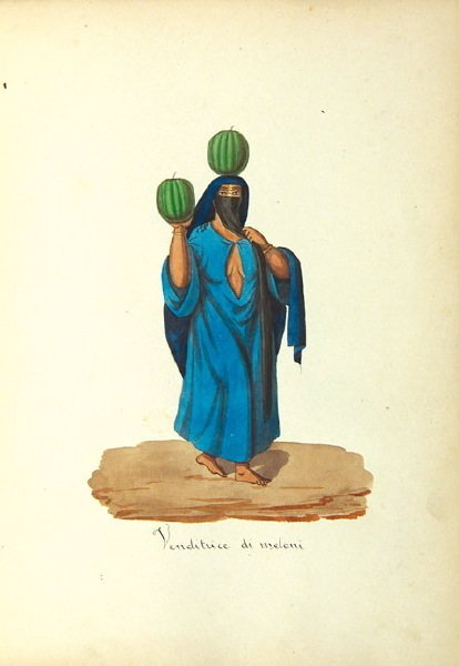 196A: Egyptian album of figure and costume studies