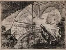 Piranesi (Giovanni Battista) - Carceri Plate XI [The