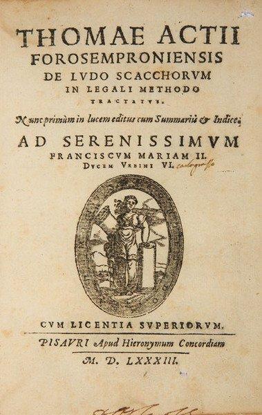 1C: Actius: De Ludo Scacchorum in Legali... 1583