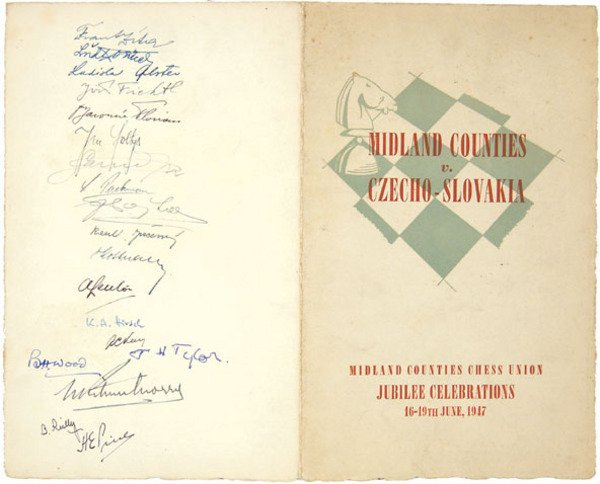 3C: A Midland Counties vs Czech Programme, signed