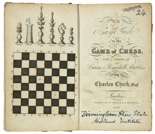 11C: Check: Easy Guide to the Game of Chess, 1818