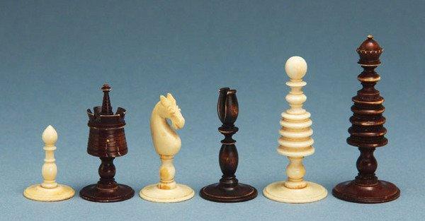 189C: A Washington ivory set, 18th century