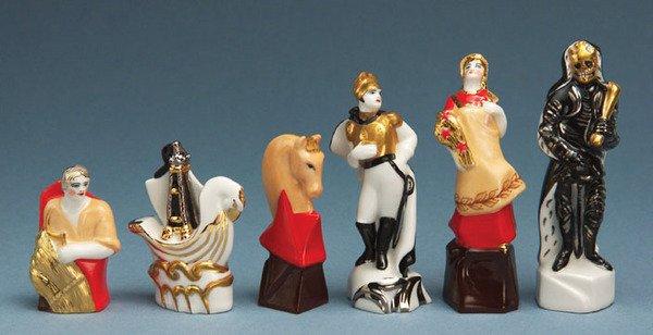 207C: A Russian propaganda porcelain chess set