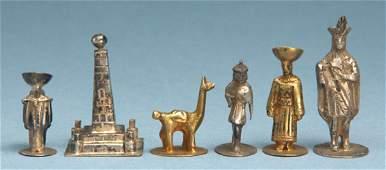 248C: An Ecuadorian silver folklore chess set