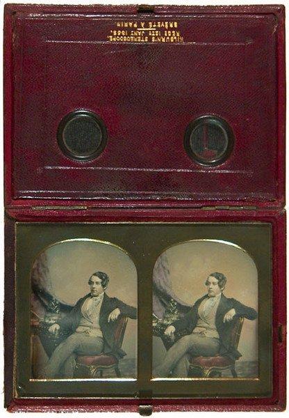1E: Kilburn's Stereoscope portrait of a Gentleman