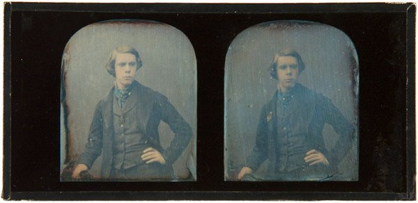 2E: Claudet Stereo Daguerreotype of A Young Man