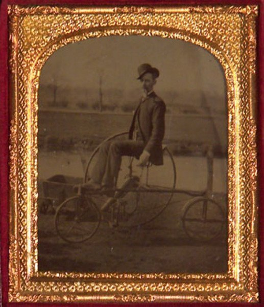13E: Tintype: Gentleman on a Rudge Rotary Bicycle