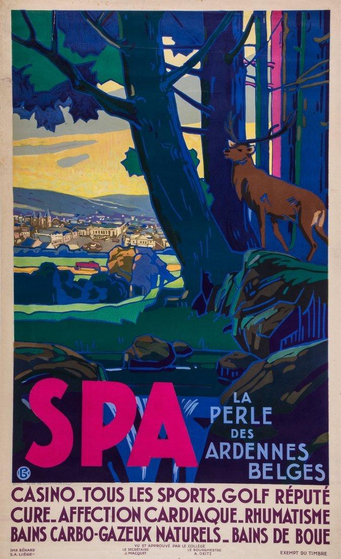 BERCHMAN, Emile (1867-1947) - SPA, La perle des
