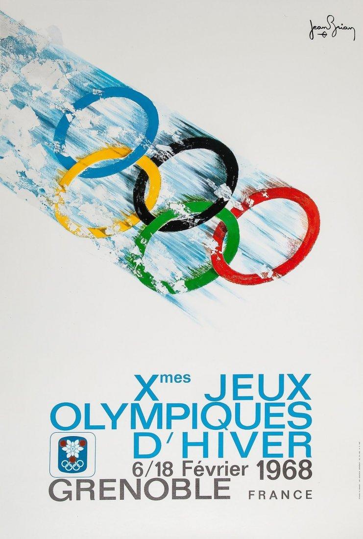 BRIAN, Jean (b.1915) - Xmes JEUX OLYMPIQUES D'HIVER
