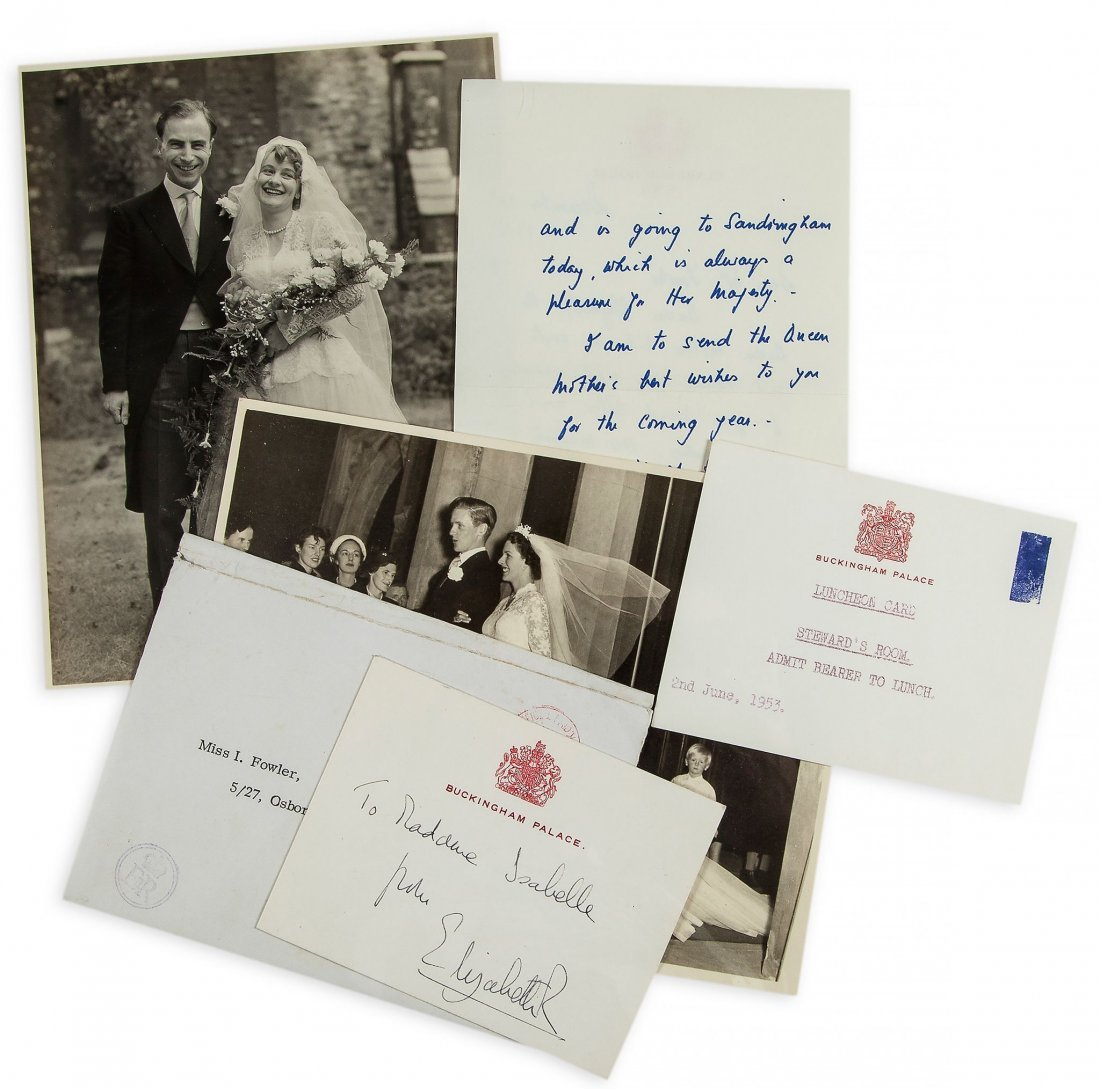 ELIZABETH II, QUEEN - Collection of letters, notes,