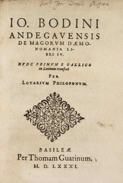 5B: Bodin (Jean) De magorum daemonomania libri IV