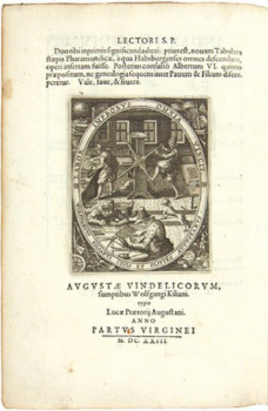 205B: Kilian (W.) Genealogia....Habsburgensi...