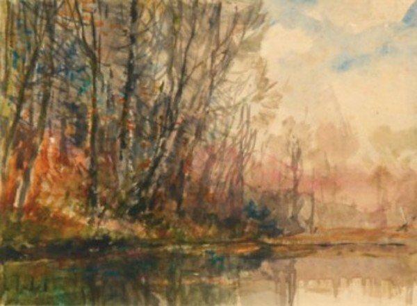 2D: Alfred Théodore Joseph Bastien (1873-1955) trees o