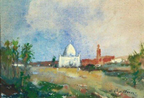 4D: Alfred Théodore Joseph Bastien (1873-1955) view of