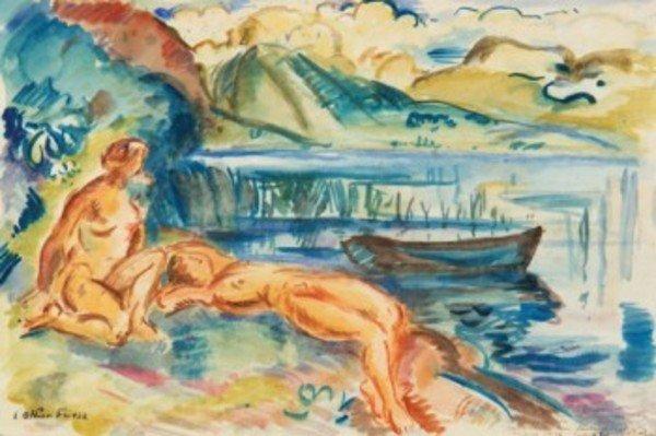 8D: Émile Othon Friesz (1879-1949) lac d'annecy