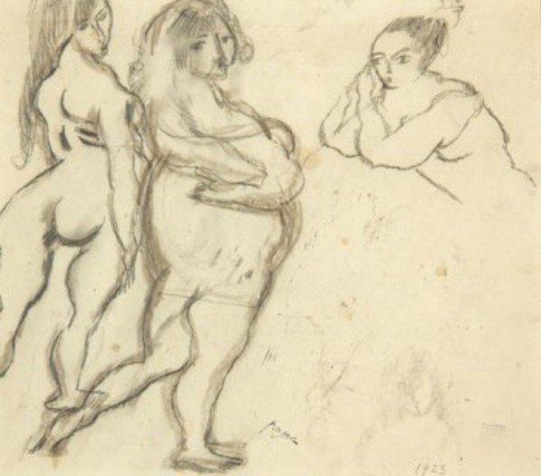 10D: Jules Pascin (1885-1930) trois nues
