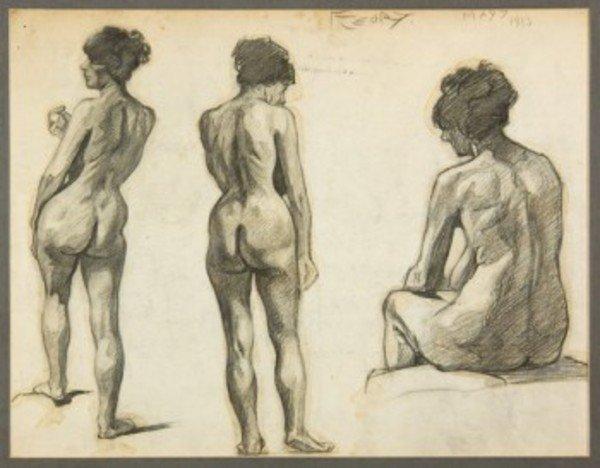 12D: Albert-François Fleury (1848-1925) nude studies