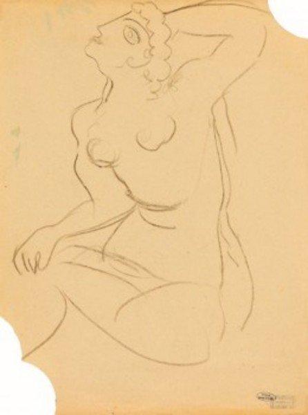 13D: André Derain (1880-1954) femme nue recto and verso
