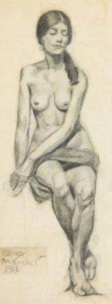 15D: Albert-François Fleury (1848-1925) seated nude