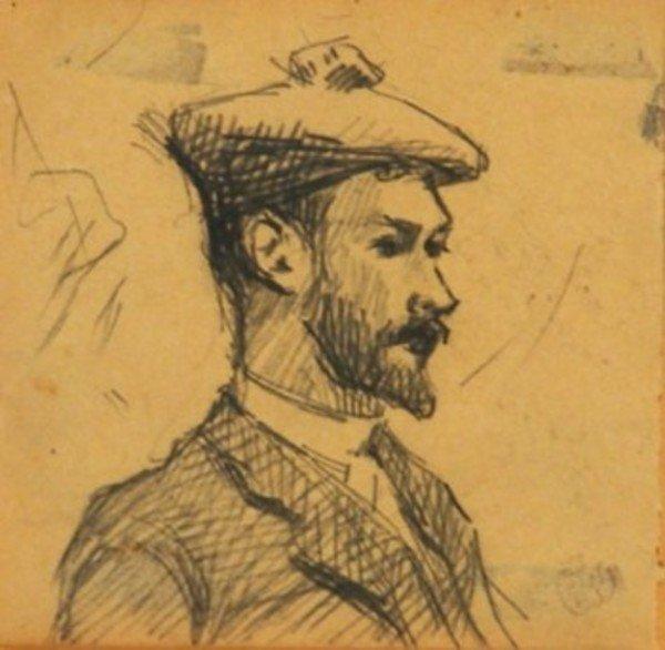 17D: Claude Émile Schuffenecker (1851-1934) portrait d'