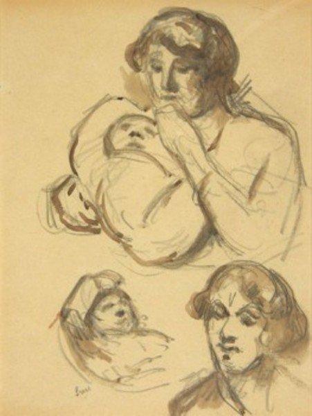 21D: Maximilien Luce (1858-1941) mère et enfant