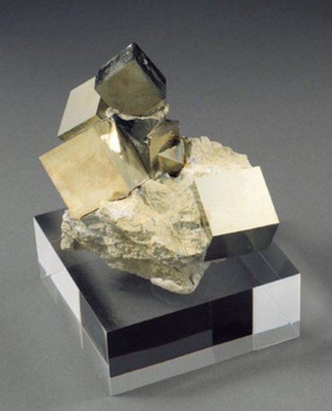 11A: NATURALLY FORMED PYRITE CUBES
