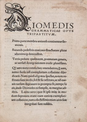 Diomedes, - Grammaticus. Grammaticae Opus Tripartitum ,
