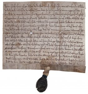 Jewish Exchequer Official - In Medieval London.- Grant