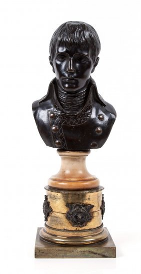 A Bronze Bust Of The Young Napoleon,