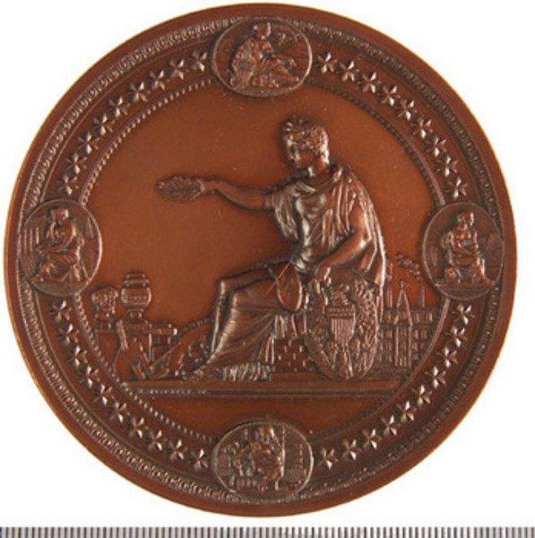 147B: International Exhibition Philadelphia 1876, bronz