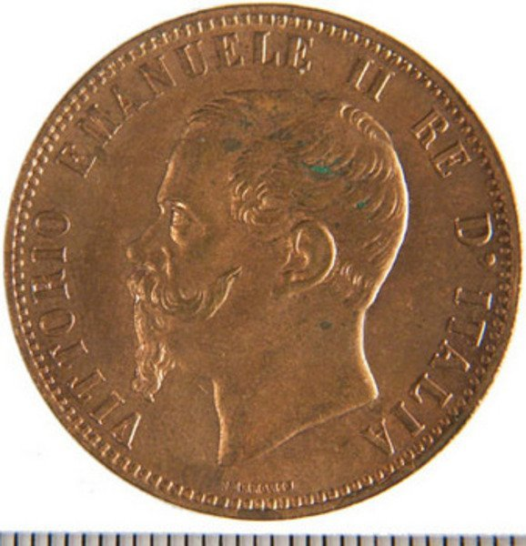 997B: 10 Centesimi 1862M, 1866H. Uncirculated mint stat