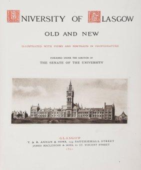 -. Glasgow.- Stewart (william, - Editor ) University Of