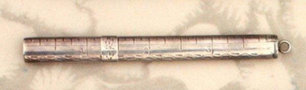 24C: SAMUEL PEMBERTON SILVER PENCIL-RULER, c 1800