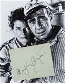"BOGART, HUMPHREY - Album page signed ""Humphrey Bogart"""