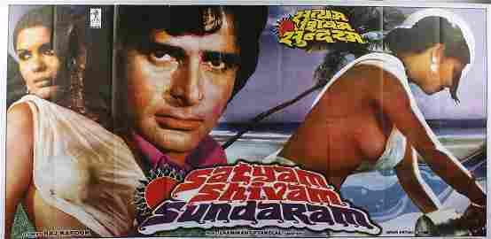 SATYAM SHIVAM SUNDARAM - Original poster in colours,