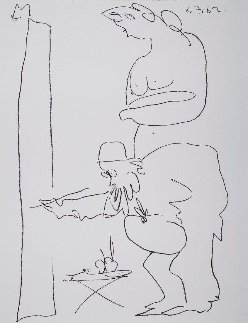 Pablo Picasso (1881-1973) - Le Peintre et son Modele