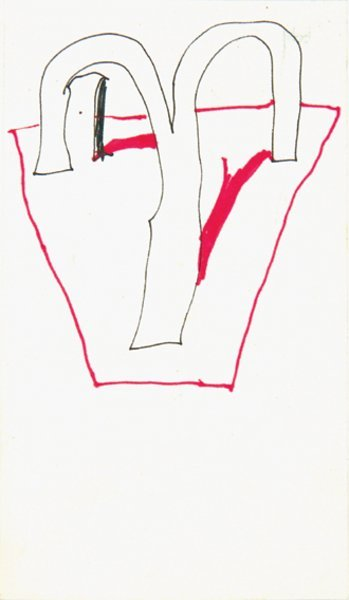 3A: Hockney (David) Double arch design, drawing