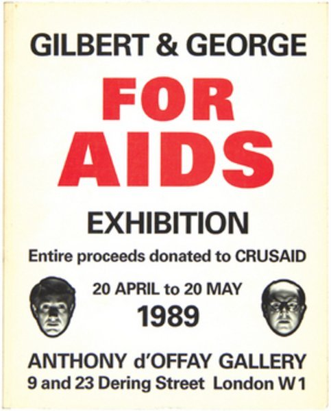 19A: Gilbert & George for Aids Exhibition..,signed