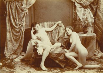 4E: Anonymous 2 nudes reclining on the floor
