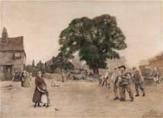 Sir Hubert von Herkomer RA 18491914  Our Village